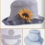 牛仔布面料制作休闲帽的教程