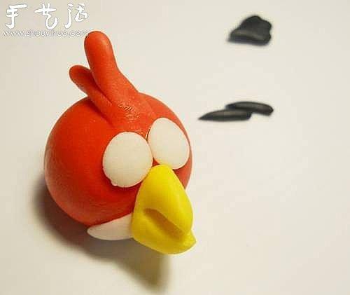软陶手工制作愤怒的小鸟图片