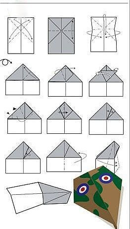 摺紙飛機的方法大全 紙飛機的摺紙方法
