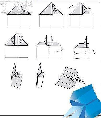 折纸飞机的方法大全 纸飞机的折纸方法