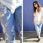 DIY印花牛仔裤 牛仔裤印花制作方法