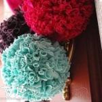 旧衣物DIY漂亮彩球 彩球挂饰的手工制作