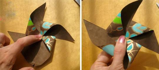 摺紙風車的做法 手工DIY紙風車