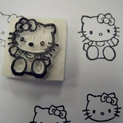Hello Kitty橡皮章手工制作教程