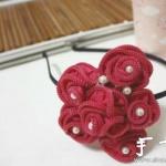 拉链DIY手工制作玫瑰花饰品