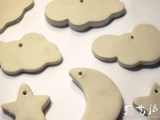 需要准备的材料也比较简单:一些石粉粘土