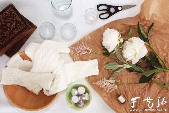 袜子DIY制作杯套 自己动手做杯套 -  www.shouyihuo.com