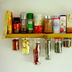 超实用家居手工:玻璃瓶罐DIY置物架