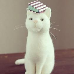 日本手工达人的猫咪羊毛毡作品
