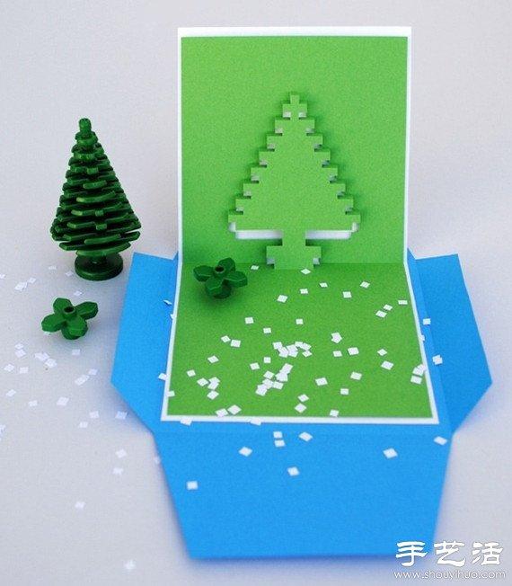 3d圣诞贺卡手工制作教程