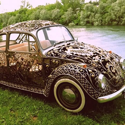 纯手工锻打改造1970款大众甲壳虫汽车