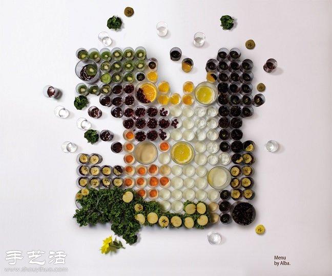 幼儿蔬菜水果的手工作品