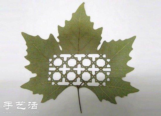 融合中国剪纸及雕花工艺的树叶雕刻