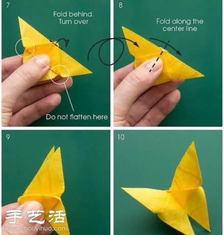 摺紙蝴蝶的方法 蝴蝶摺紙教學