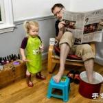 创意摄影:最好爸爸和女儿的《韩国奇遇记》