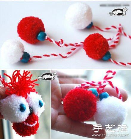手工制作可爱毛毛虫玩具