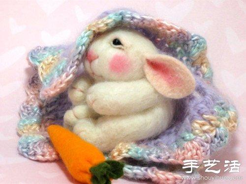 羊毛毡手工制作超萌小老鼠图片