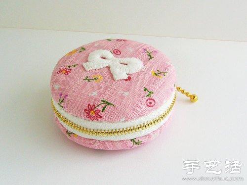 【布艺生活】清新可爱的马卡龙diy布艺零钱包
