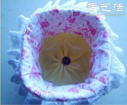 棉布 废物利用手工制作收纳筐