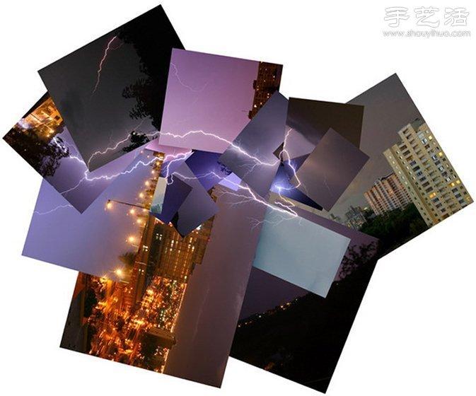 閃電照片創意組合 DIY另類神奇自然景觀