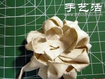 手工制作森系布艺花朵