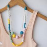 超简单:粘土DIY制作小清新简约项链
