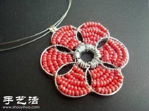 串珠 铁丝 DIY手工制作漂亮项链吊坠