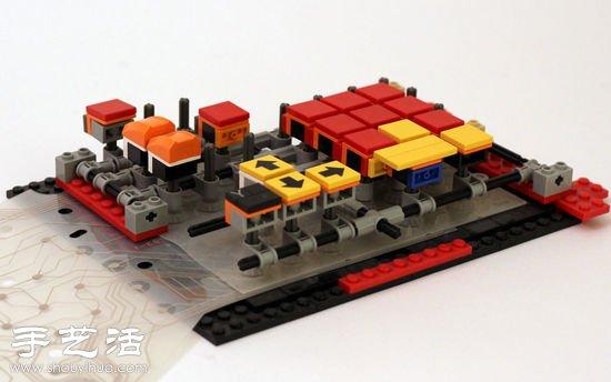 电子制作  这种乐高键盘的制作首先是从其他的键盘中拆卸下电路板和感