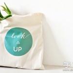 布包+热转印纸 DIY印花图案手提袋