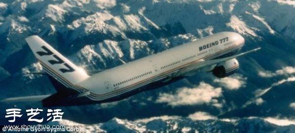 硬纸板diy制作超精细波音777飞机模型(2)