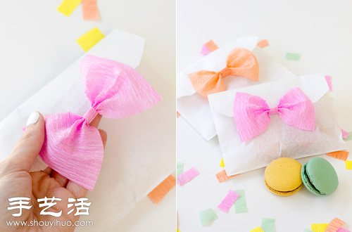 活小编一起学习用皱纹纸手工制作一款简单的蝴蝶结吧