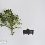 树叶+插画 创意DIY有趣的拼贴画
