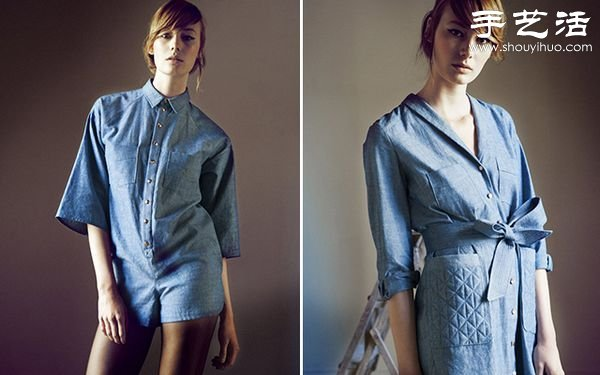Heinui品牌秋季系列藍色連衣裙設計