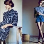 Heinui品牌秋季系列蓝色连衣裙设计
