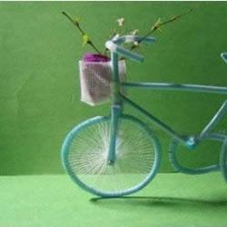 吸管自行车手工制作 变废为宝DIY吸管自行