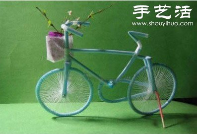 吸管自行车手工制作 变废为宝diy吸管自行车