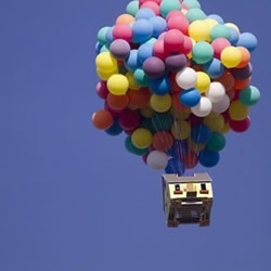 """300个充氦气象气球DIY现实版""""飞屋"""""""