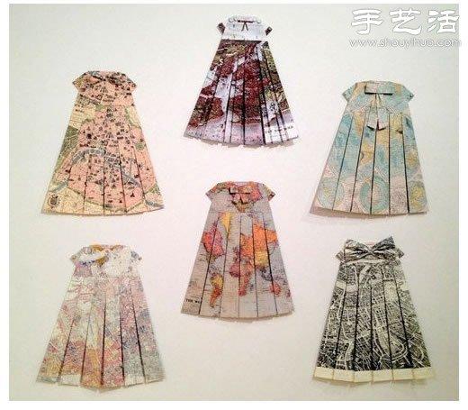 折纸漂亮连衣裙