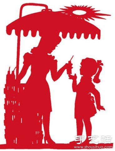 中国传统剪影图案作品欣赏 -  www.shouyihuo.com