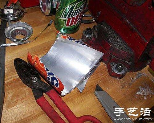 易拉罐廢物利用手工製作百合花