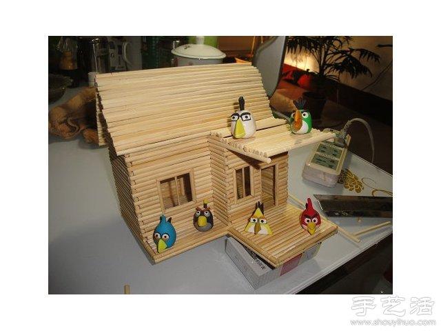 筷子建筑模型_一次性筷子建筑模型