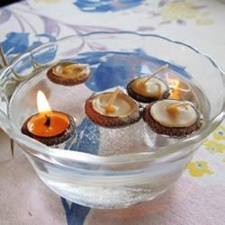橡果壳+蜂蜡 DIY漂浮在水面上的浪漫烛台