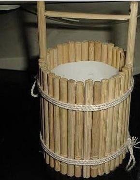 一次性筷子变废为宝手工制作小水桶