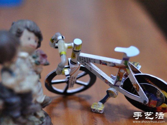 耗时两周纯手工制作的迷你自行车