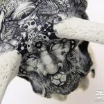 动物骨头、石头上DIY的奇幻手绘