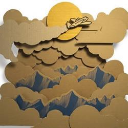 硬纸板变废为宝手工制作卡通图案
