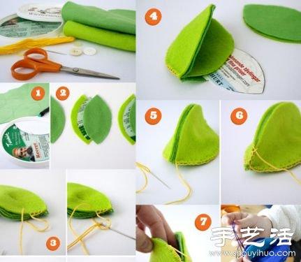 不织布教程:布艺制作小老鼠毛绒玩具 -  www.shouyihuo.com