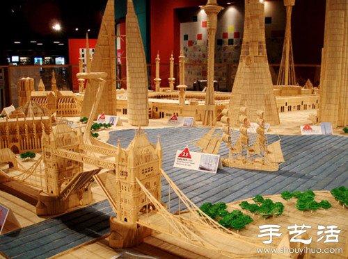 600萬根牙籤搭建出的微縮模型