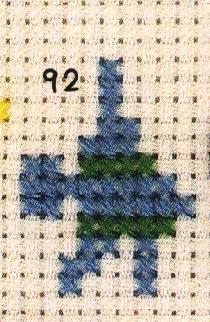 热带鱼的十字绣绣法