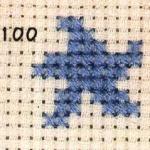 两种海星的十字绣绣法